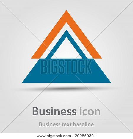 Originally created business icon with stacked triangles