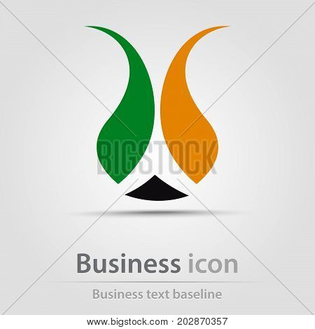 Originally created business icon with stylized tulip flower