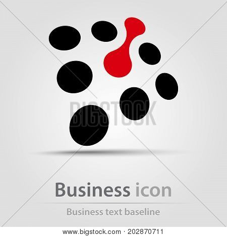 Originally created business icon with dots and metaball shape