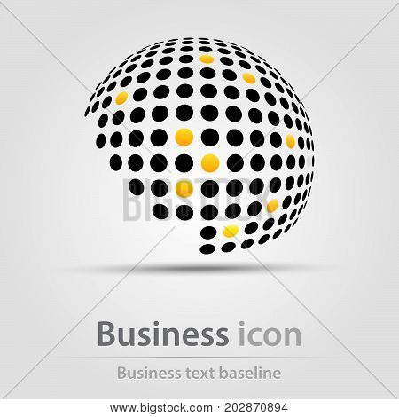 Originally created business icon with incomplete dotted ball