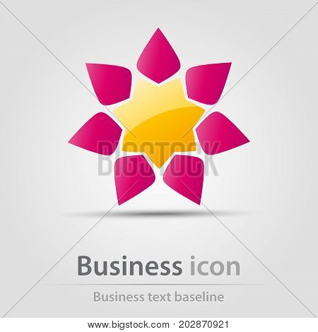 Originally created business icon with abstract flower
