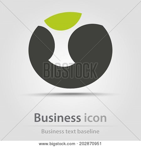 Originally created business icon with abstract shape