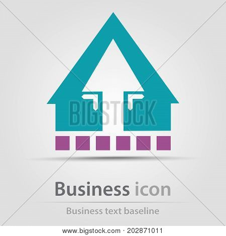 Originally created architecture icon with blue house