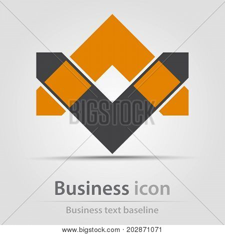 Originally created business icon with opposite arroheads