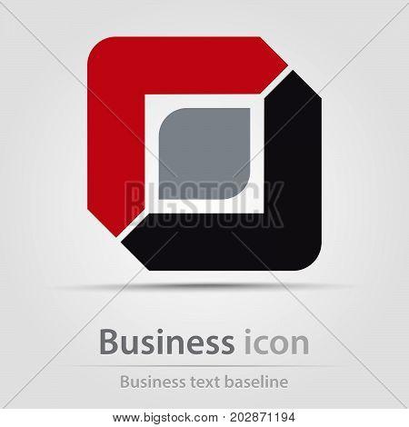 Originally created business icon with stylized digital eye