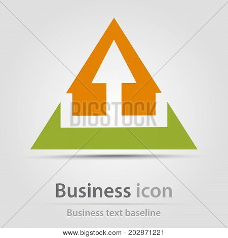 Originally created business icon with architecture objects
