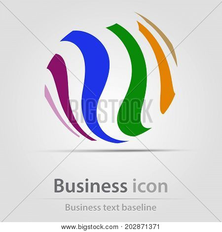 Originally created business icon with rainbow abstract shape