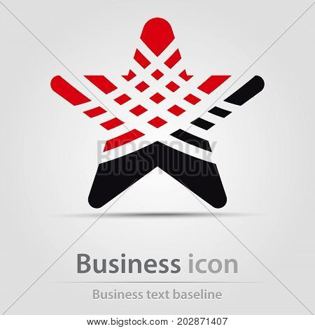 Originally created business icon with hatched star