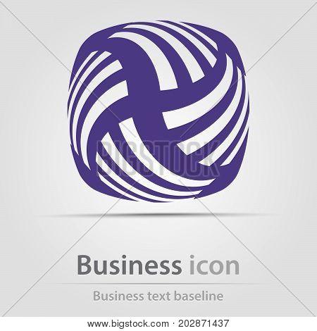 Originally created business icon with bar swirl