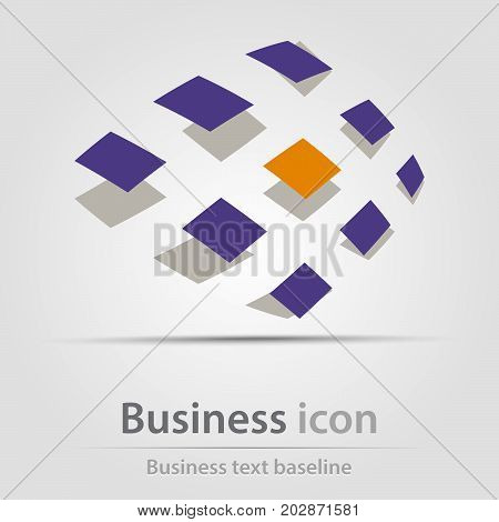 Originally created business icon with flying squares