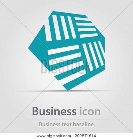 Originally created business icon with opposite bars in hexagon