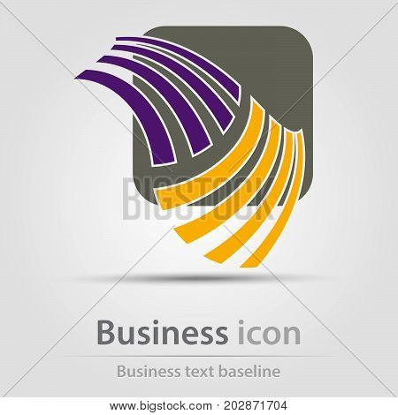 Originally created business icon with a couple of bars superimposed on rounded square