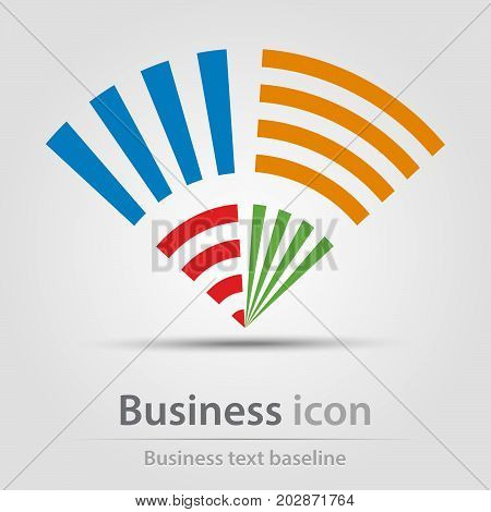 Originally created business icon with sets of opposite bars