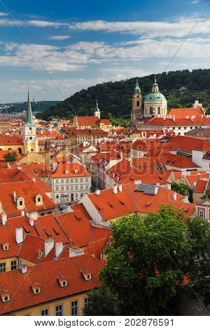 Red Roofs Of Mala Strana, Prague, Czech Republic, Europe