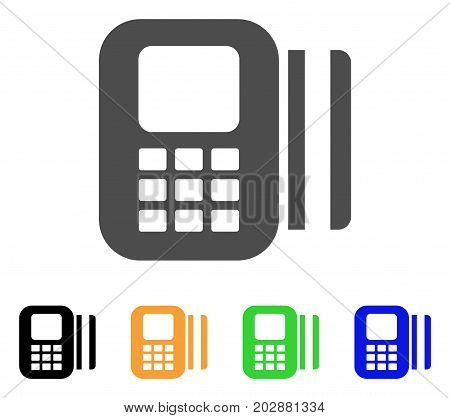 Card Reader vector pictograph. Style is a flat graphic symbol in gray, black, yellow, blue, green color versions. Designed for web and mobile apps.