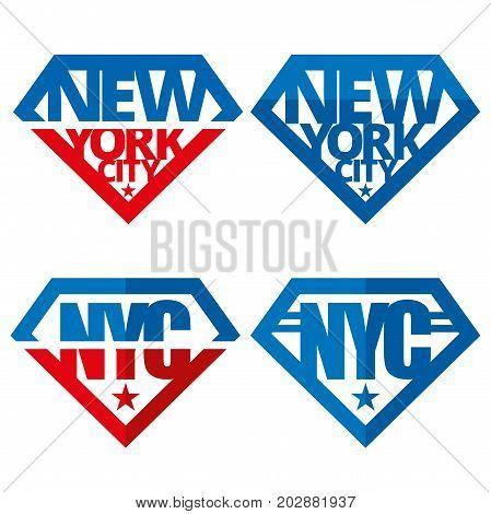 United states of America Vector logos USA New York City NYC