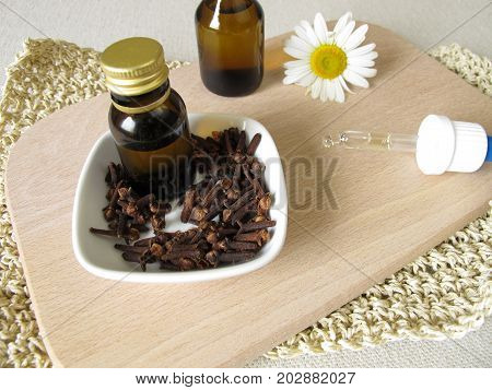 Homemade insect repellent with cloves oil to applied to skin poster