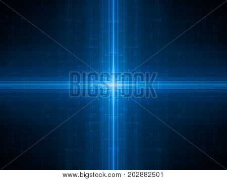 Blue glowing futuristic hardware computer generated abstract background 3D rendering