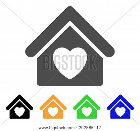 Hospice vector pictograph. Style is a flat graphic symbol in gray, black, yellow, blue, green color versions. Designed for web and mobile apps.