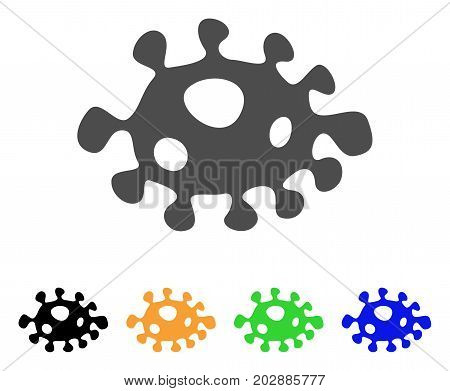Infection Cell vector pictogram. Style is a flat graphic symbol in gray, black, yellow, blue, green color versions. Designed for web and mobile apps.