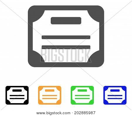 License vector icon. Style is a flat graphic symbol in gray, black, yellow, blue, green color versions. Designed for web and mobile apps.