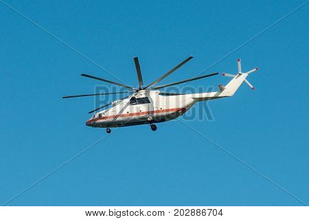Mi-26 heavy military transport in flight emergency situations of Russia