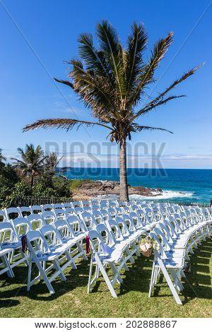 Chairs Wedding Ocean Landscape