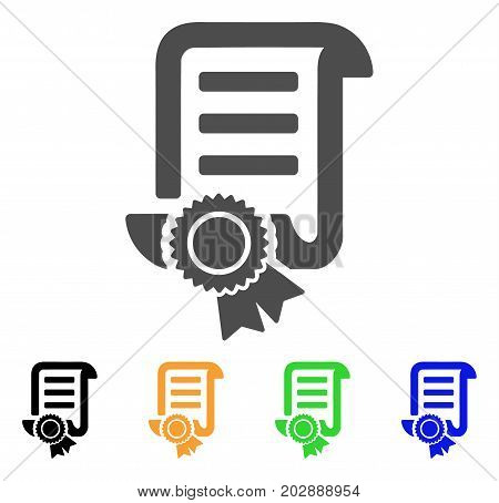 Patent vector icon. Style is a flat graphic symbol in gray, black, yellow, blue, green color versions. Designed for web and mobile apps.