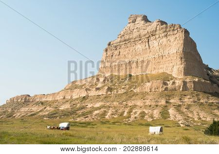 A geology attraction in western Nebraska United States