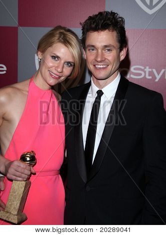 LOS ANGELES - JAN 16:  Claire Danes & Hugh Dancy arrives to the 12th Annual WB-In Style Golden Globe After Party  on January 16, 2011 in Beverly Hills CA