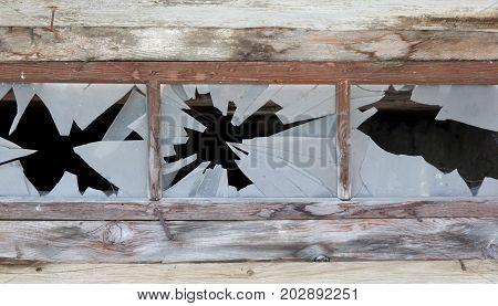 Close Up Of A Broken Window