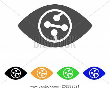 Smart Contact Lens vector pictograph. Style is a flat graphic symbol in grey, black, yellow, blue, green color variants. Designed for web and mobile apps.