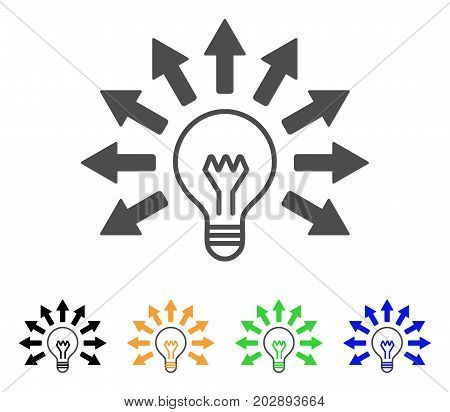 Ultraviolet Lamp vector pictograph. Style is a flat graphic symbol in gray, black, yellow, blue, green color variants. Designed for web and mobile apps.