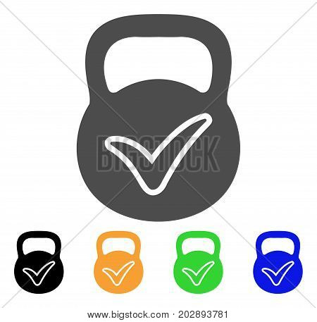 Valid Iron Weight vector icon. Style is a flat graphic symbol in gray, black, yellow, blue, green color versions. Designed for web and mobile apps.