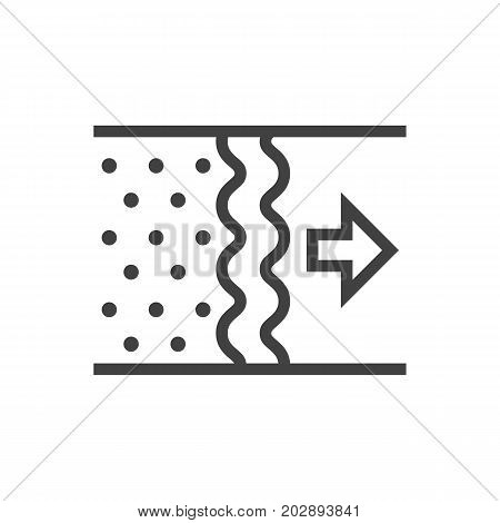 Vector Air Element In Trendy Style.  Isolated Purification Outline Symbol On Clean Background.