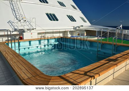 Swimming Pool On The Bow Of The Ship