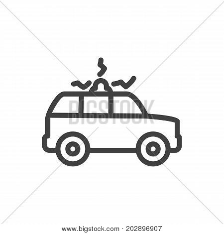 Vector Siren  Element In Trendy Style.  Isolated Suv Outline Symbol On Clean Background.