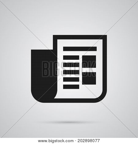 Vector Journal  Element In Trendy Style.  Isolated Newspaper Icon Symbol On Clean Background.