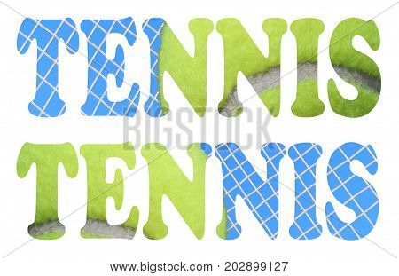 tennis balls and tennis strings tennis sign icon