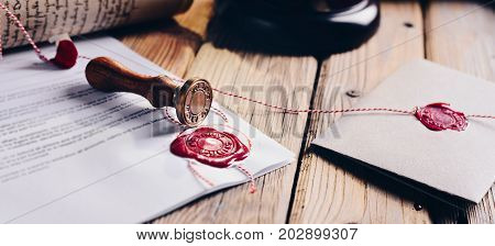 Notary Public Wax Stamper
