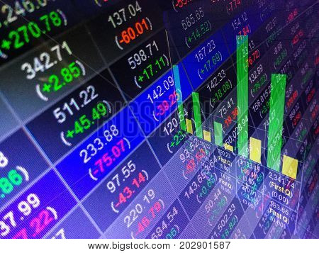 Financial stock market exchange business report concept background