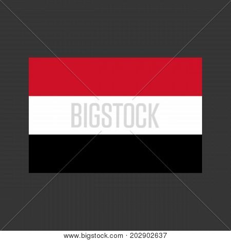Yemen flag on the gray background. Vector illustration