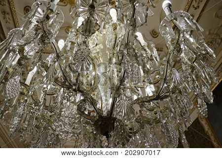 Detail Of Beautiful Crystal Light