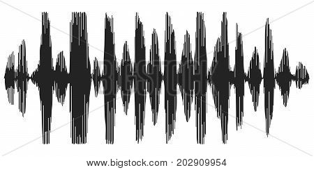 sound waves recording speech, reverb, vector icon speech synthesizer, spectrogram of acoustic waves