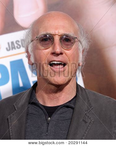 LOS ANGELES - FEB 23:  Larry David arrives to the