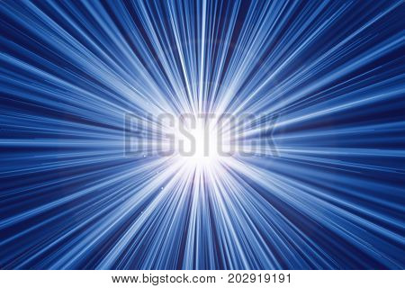 Fast Zoom Motion Speed Light Effect Abstract Background