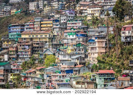 View of Daarjeeling city in west bengal ,India