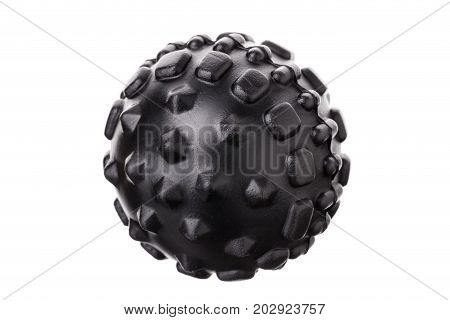 Myofascial with thorns a rubber ball for self-massage. On a white background.