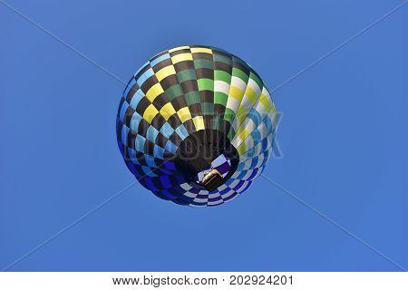 Lincoln, Illinois - Usa - August 25, 2017: Blue Sky Hot Air Balloon