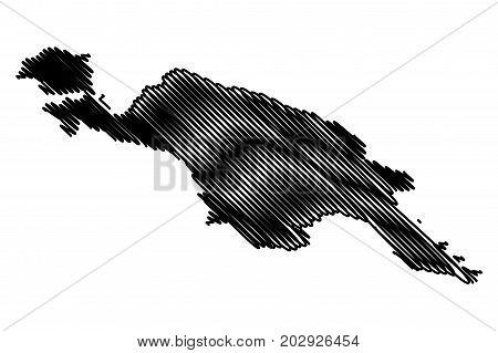 new guinea map vector illustration , scribble sketch new guinea